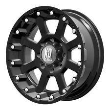 18x10 Xd807 Strike Matte Black Wheels Rims Chevy Ford GMC Dodge Toyota