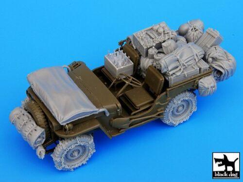 Black Dog 1//35 US Jeep Big Stowage /& Accessories Set w//Snowchained Wheels T35044