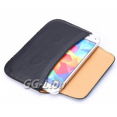 Pouch Holster Leather Case with Belt Loop for Samsung Galaxy S5 G900F G900A