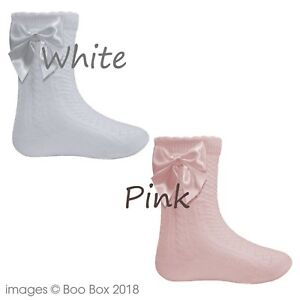 Kids' Clothing, Shoes & Accs Pex Baby Girls Knee High Satin Ribbon Bow White Pink Socks Nb-6y Cotton Rich Skilful Manufacture Clothing, Shoes & Accessories