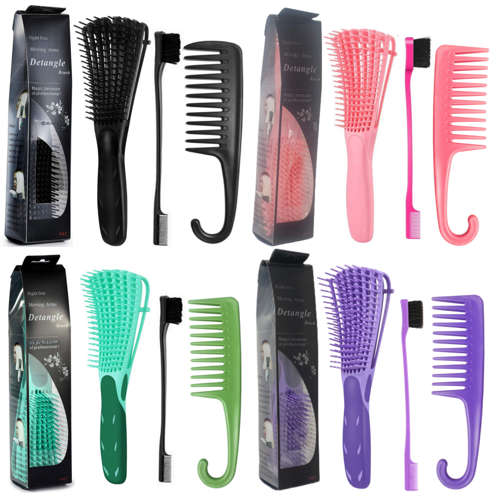 Eco Bamboo Brush By Hair Gallery Natural Bristle Radial Styling Comb For Sale Online Ebay