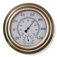 Brass Thermometer Decorative Thermometer Indoor Outdoor Thermometer Hygrometer
