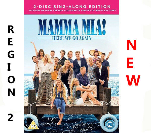 MAMMA MIA HERE WE GO AGAIN DVD REGION 2 UK FAST & FREE DISPATCH