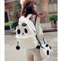 Women Girl Fashion Cute Cartoon Panda Bag Canvas Backpack Shoulder School Bags L