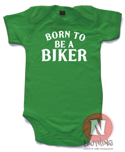 Naughtees Clothing Born To Be A Biker Babygrow Baby Suit Cotton Great Gifts New