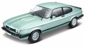 FORD Capri - 1973 - lightgreenmetallic - Bburago 1:24