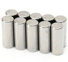 15pcs Strong 6mm x 10mm Nickel Coating Permanent Cylinder Rod Neodymium Magnet