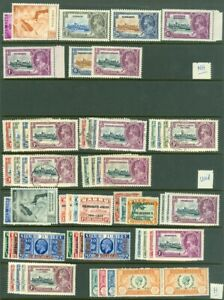 EDW1949SELL : GREAT BRITAIN OMNIBUS Collection of various Mint Hinge & NH + Used