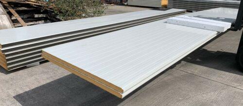 £21.50//m² Insulated WALL Panels VAT NEW 7.5m long 40mm thick PIR
