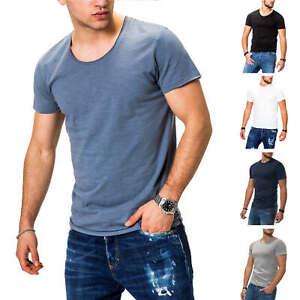 Jack-amp-Jones-T-Shirt-Hommes-Basic-Shirt-Manches-Courtes-Shirt-Short-Manche-Streetwear