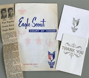 Details About Vintage Boy Scout Program Invitation Eagle Court Of Honor 1960s Topeka KS