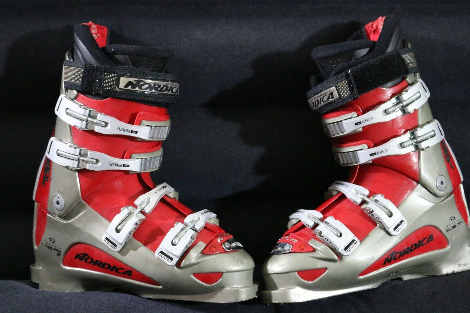 NORDICA GRAND PRIX EXOPOWER 315MM SKI BOOTS IN SIZE MEN 27.0 27.5
