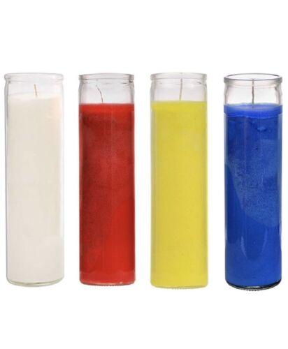 Veladoras religiosas Espiritual de cristal 4 PACK Set 5-7 Day Vela para santeria