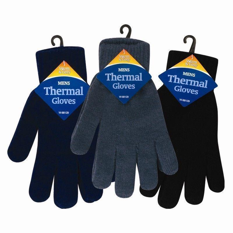 Men's Winter Thermal Warm Woolly Fingerless Gripper Magic Touchscreen Gloves