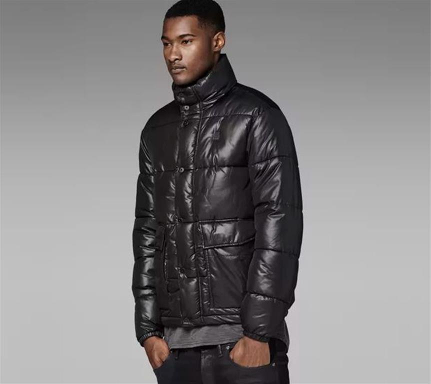 Veste matelassée matelassée hiver G-Star Bearing, noir, pour homme, avec étiquettes taille L