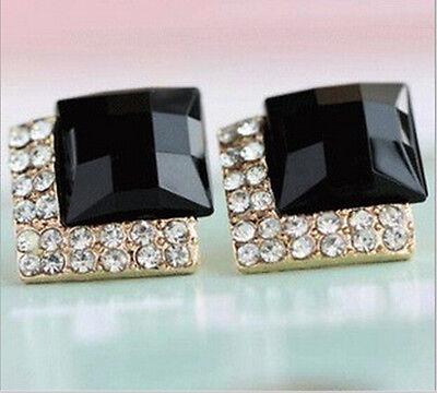 New 1 Pair Fashion Women Lady Elegant Crystal Rhinestone Ear Stud Earrings