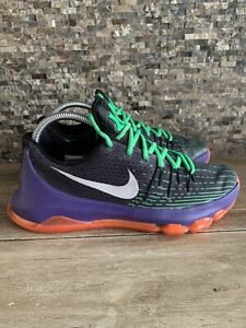 Doncella Agotar Satisfacer  Nike KD 8 VIII Black Purple Green Red Joker Vinary Sz 7Y 768867-003 | eBay
