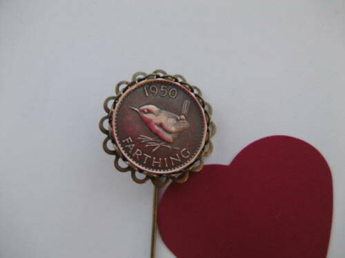 Farthing Pin Wren Brooch 1937 to 1955 includes 75th 70th 65th 60th Age Year