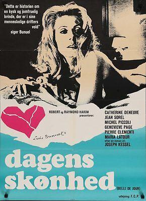 Catherine Deneuve Luis Bunuel movie poster print 3 Belle de jour 1967