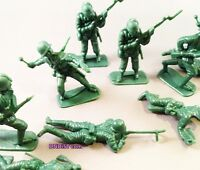 Lot Of 10 Plastic Green Army Military Men Toys Classic Troop Decoration Birthday