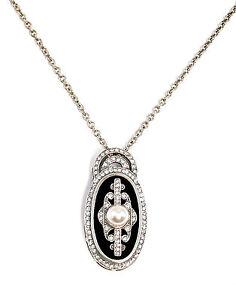 9901653-925er-Silber-Art-deco-Anhaenger-Kette-Onyx-Swarovski-Steinen-L3cm-44cm