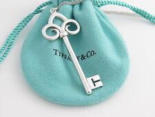 Tiffany & Co Silver HUGE Fleur De Lis Key 20.125 Inch Chain Necklace!