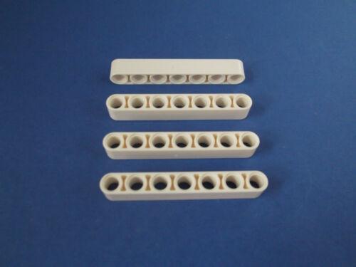 Lego Technic 4 x Lochbalken Liftarm Steine 1 x 7 32524   4495927 in weiß K1