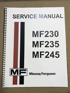 image is loading 245-massey-ferguson-tractor-technical-service-shop-repair-