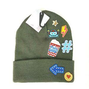 Rocker Chick Popcorn Movies Teen Knit Stocking Cap Beanie Winter Hat NWT