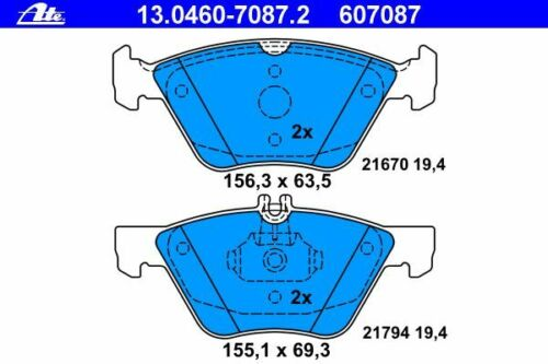 A208 C208 SLK CLK R170 W210 S210 ATE BREMSBELÄGE VORNE MERCEDES E-KLASSE