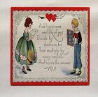 Vintage Amour Poème Tissu Imprimé Panel Faire Un Coussin Tapisserie