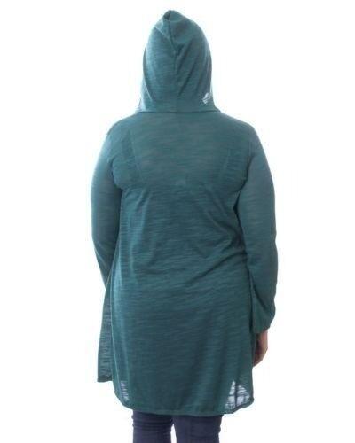 Plus a lavorato con Womens Camicetta Green 16 14 Top cappuccio New aperto Warm maglia T45 Size PwTqtPa