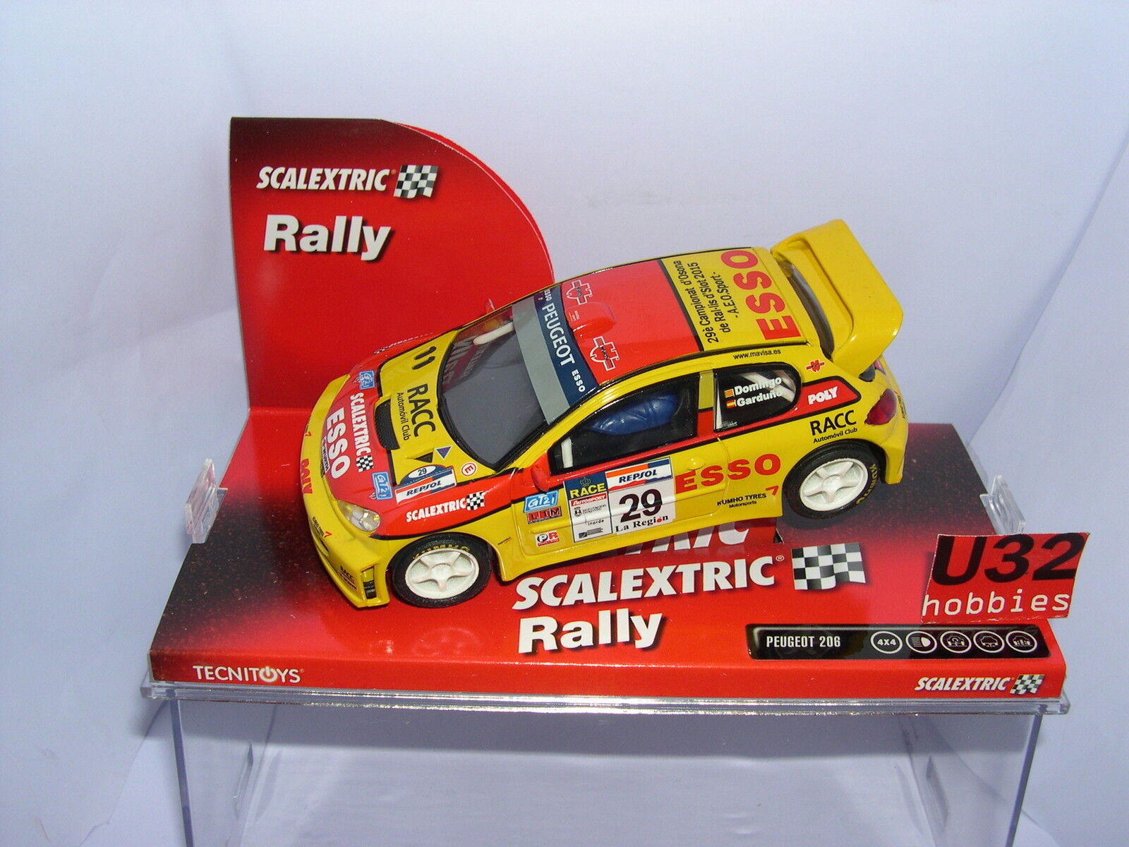 SCALEXTRIC SLOT CAR PEUGEOT 206 WRC 29 CAMP. OSONA A.E.O. 2015 36 UNITS
