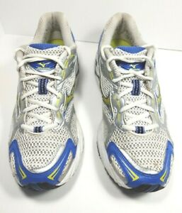 Silver/ Blue/ Yellow Athletic Shoes