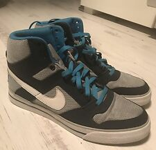 NIKE DELTA FORCE HI AC TRAINERS SIZE 9 MENS WOLF GREY / WHITE / MIDNIGHT RARE