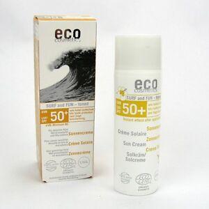 33-90-100ml-Eco-Cosmetics-Sonnencreme-LSF-50-Surf-amp-Fun-getoent-50-ml