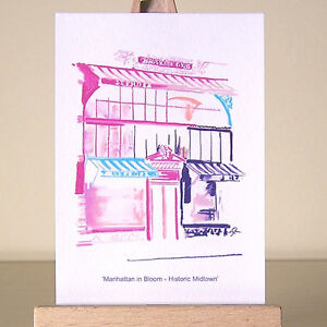 Art-of-pink-New-York-City-drawing-Manhattan-Midtown-architecture-cityscape-ACEO