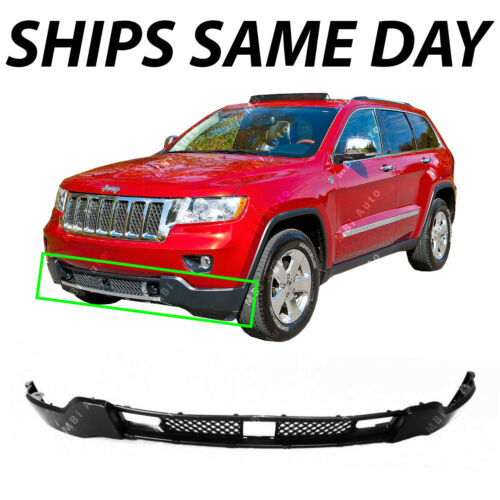 NEW Dark Gray Lower Front Bumper for 2011-2013 Jeep Grand Cherokee with Adaptive