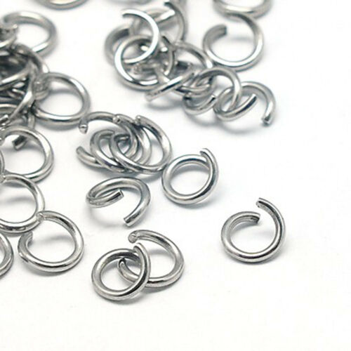 100 binderinge acero inoxidable muy fuertes colores originales 6x0,8 mm joyas bricolaje//043