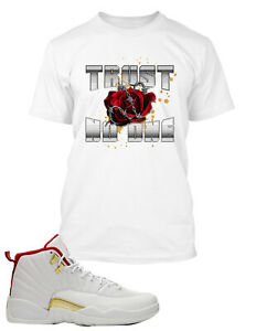 Trust No One T Shirt To Match Air Jordan 12 Fiba Shoe Mens Tee
