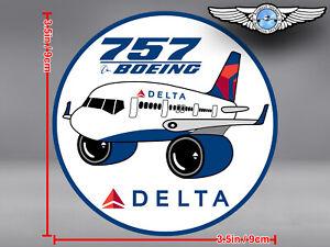 DELTA-AIR-LINES-ROUND-PUDGY-BOEING-B757-B-757-DECAL-STICKER