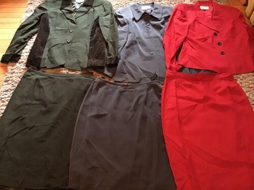 Kasper For A.S.L Suit Lot Jacket/blazer Skirt Sz.