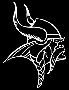 Minnesota Vikings Logo Car Decal Vinyl Sticker White 3
