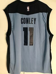 watch 6982a a475d Details about Adidas NBA Jersey Memphis Grizzlies Mike Conley Light Blue sz  L