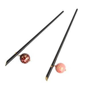 2x-Women-Sakura-Acrylic-Hair-Stick-Pin-Hairpins-Japanese-Kanzashi-Head-Wear