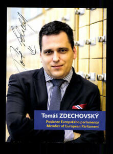 Politik, Adel & Militär Tomas Zdechovsky Autogrammkarte Original Signiert ## Bc 119388 Starke Verpackung Original, Nicht Zertifiziert