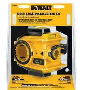 Dewalt Door Knob Lock Install Holesaw Bi Metal Wood Drill