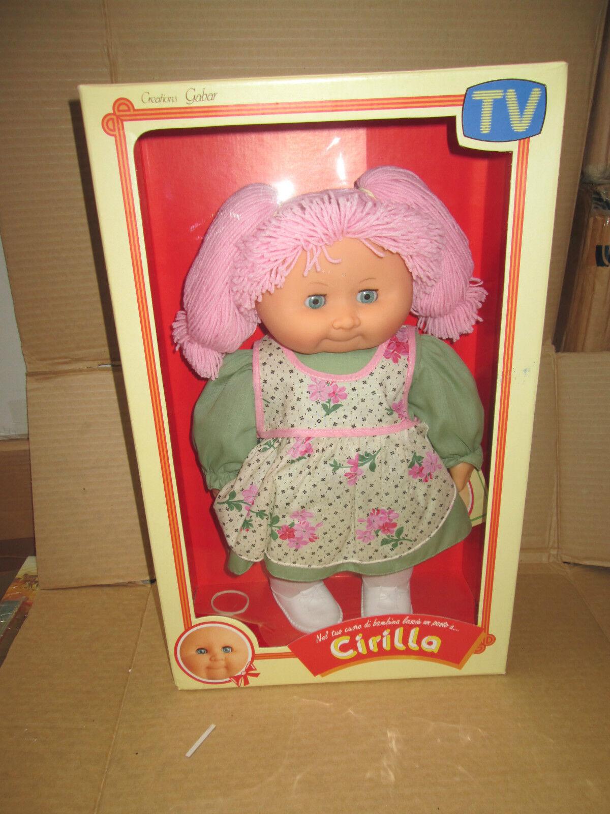 GABAR CIRILLA bambola doll con con con certificato di battesimo CABBAGE PATCH STYLE 1 28660d