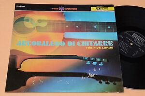 THE-FIVE-LORD-LP-ITALY-PRESS-1967-VEDETTE-COPERTINA-CARTONATA-LAMINATA-EX