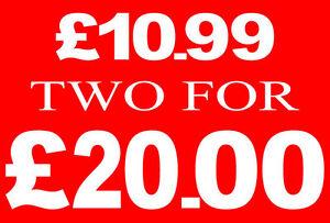 £ 10.99 Deux Pour £ 20 Livres Vente Rail Signe Carte Magasins De Détail Qualité Display-high-afficher Le Titre D'origine Ws7ggmio-07212453-126337613